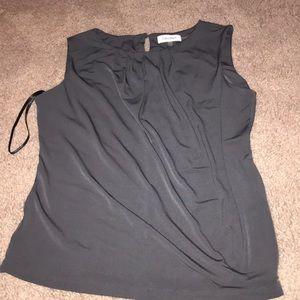 Grey Calvin Klein Tank tops